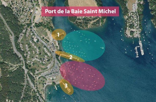 Plan de mouillage du port de la Baie Saint Michel